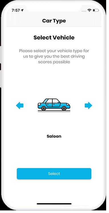 loopmatics application select vehicle screen